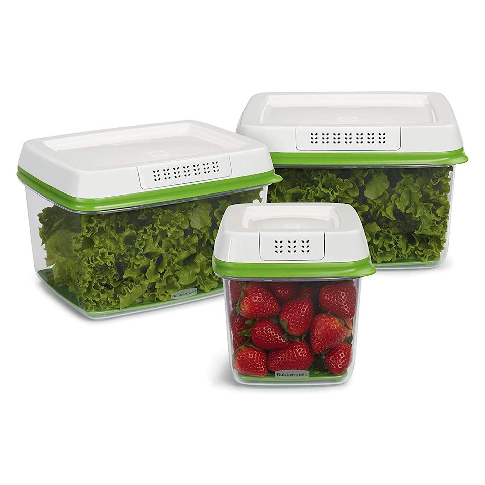"""<p>Amazon shoppers call these produce saver containers, <a href=""""https://www.realsimple.com/food-recipes/shopping-storing/food/rubbermaid-freshworks-produce-saver"""" target=""""_blank"""">which can help your favorite foods last 80 percent longer</a>, """"amazing"""" and """"worth every penny."""" </p> <p><strong>To buy:</strong> $27; <a href=""""https://www.amazon.com/Rubbermaid-FreshWorks-Produce-Storage-Containers/dp/B01FCR7MYM/ref=as_li_ss_tl?ie=UTF8&linkCode=ll1&tag=rshomekitchencustomerlovedjmattern1019-20&linkId=15c1e36e1789d2771f70c5fa7e289050&language=en_US"""" target=""""""""_blank"""""""">amazon.com</a>.</p>"""