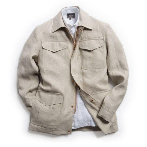 """<p><a class=""""link rapid-noclick-resp"""" href=""""https://www.privatewhitevc.com/products/linen-field-jacket?variant=31948372082749"""" rel=""""nofollow noopener"""" target=""""_blank"""" data-ylk=""""slk:SHOP"""">SHOP</a></p><p>""""A streamlined take on the classic safari jacket, so just as elegant but without the overtly military vibe. It's unlined, so it's lightweight and great for layering, plus it's gently nipped in at the waist for that extra touch of smartness.""""</p><p><strong>Charlie Teasdale, Style Director</strong></p><p>£695, <a href=""""https://www.privatewhitevc.com/products/linen-field-jacket?variant=31948372082749"""" rel=""""nofollow noopener"""" target=""""_blank"""" data-ylk=""""slk:privatewhitevc.com"""" class=""""link rapid-noclick-resp"""">privatewhitevc.com</a></p>"""