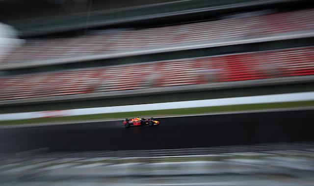 Motor Racing - F1 Formula One - Formula One Test Session - Circuit de Barcelona-Catalunya, Montmelo, Spain - February 2, 2018. Daniel Ricciardo of Red Bull Racing during testing. REUTERS/Albert Gea