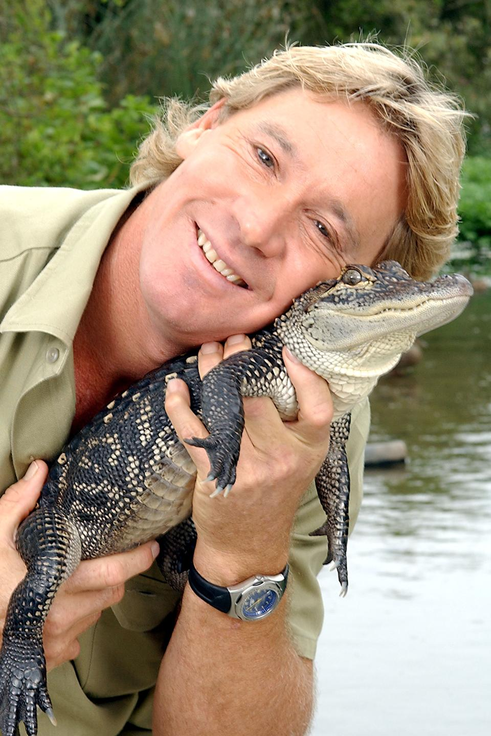 An old snap of Steve Irwin confirms the resemblance. Photo: Getty Images