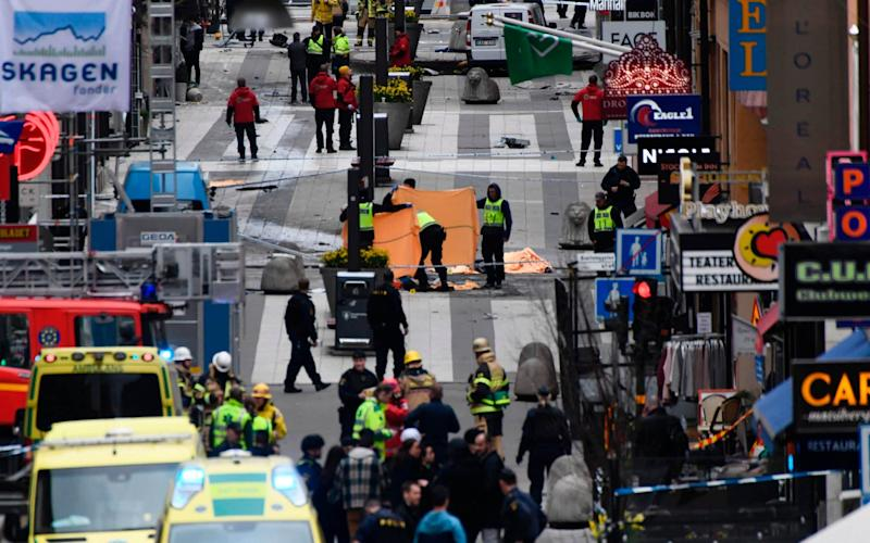 Emergency services in Stockholm - Credit: Jonathan Nackstrand/AFP