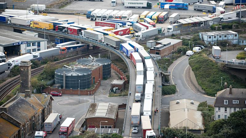 Huge queues of lorries at Dover as Operation Stack activated