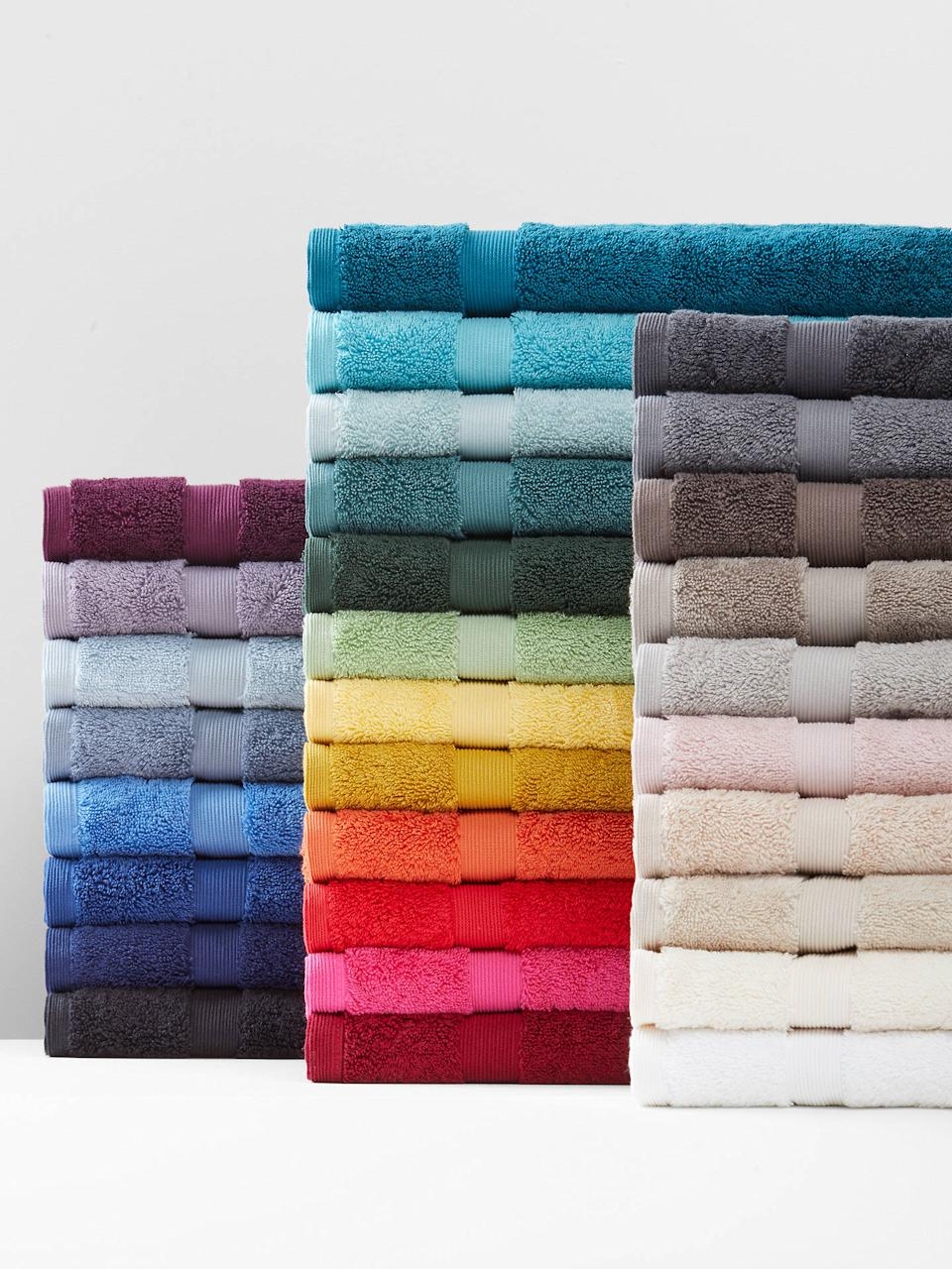 The top-rated towels come in 29 hues. (John Lewis)