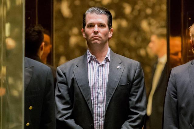 Donald Trump Jr. is not happy with Olympic skater Adam Rippon.