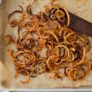 """<p>These oven fries crisp up without the greasy mess of deep-frying. Plus they're a bit easier and faster to make than traditional hand-cut fries thanks to the quick work of the spiralizer. Just watch the thickness: cut too thin, the fries will burn easily. <a href=""""http://www.eatingwell.com/recipe/264286/oven-baked-curly-fries/"""" rel=""""nofollow noopener"""" target=""""_blank"""" data-ylk=""""slk:View recipe"""" class=""""link rapid-noclick-resp""""> View recipe </a></p>"""
