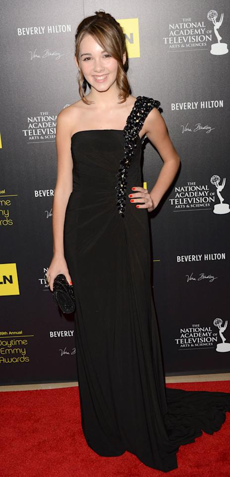 Haley Pullos arrives at The 39th Annual Daytime Emmy Awards held at The Beverly Hilton Hotel on June 23, 2012 in Beverly Hills, California.
