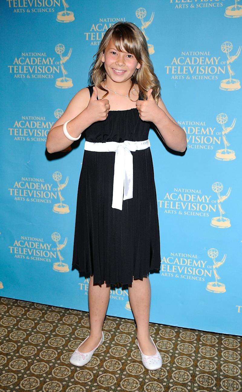 Tv Host Bindi Irwin arrives at the 36th Annual Daytime Creative Arts Emmy Awards, at the Westin Bonaventure Hotel on August 29, 2009 in Los Angeles, California. (Photo by Frazer Harrison/Getty Images)