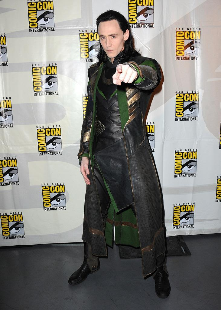 <p>To the delight of Avenger fans, Tom Hiddleston presented new footage from <i>Thor: The Dark World</i> at 2013 Comic-Con as his villain Loki. <i>(Photo: Albert L. Ortega/Getty Images)</i></p>