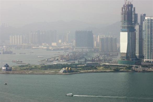 A general view of Hong Kong's West Kowloon, September 12, 2007, which is planned to be built into a multi-billion dollar harbor-front cultural project.