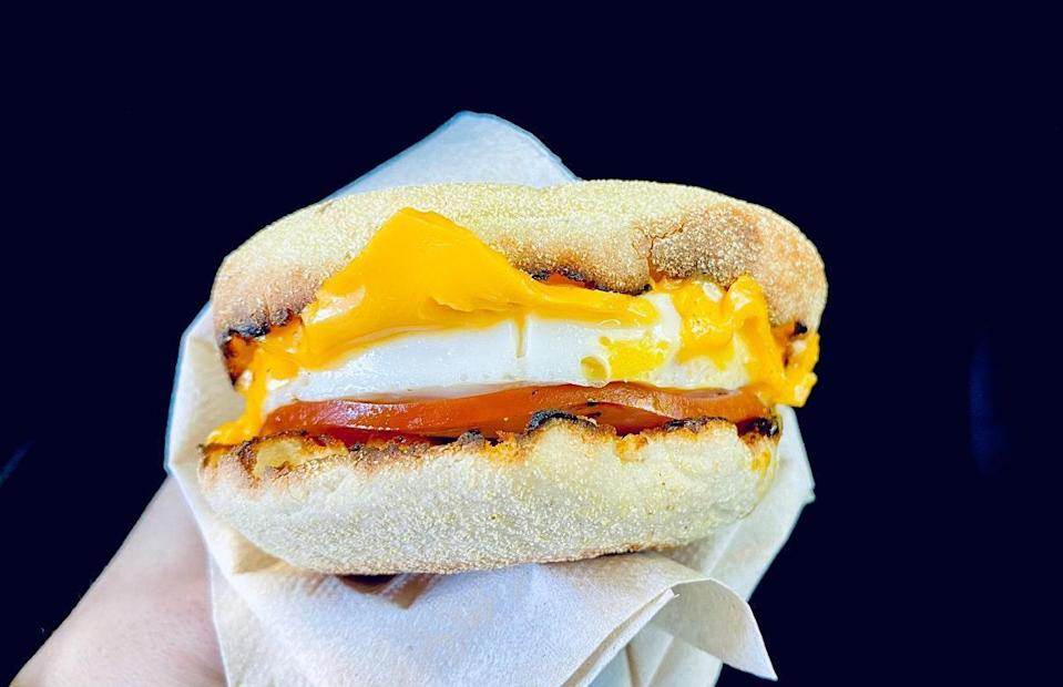 """<p>There's no need to drive all the way to McDonald's when you can make a good <a href=""""https://www.thedailymeal.com/cook/fast-food-copycat-recipes-chipotle-taco-bell?referrer=yahoo&category=beauty_food&include_utm=1&utm_medium=referral&utm_source=yahoo&utm_campaign=feed"""" rel=""""nofollow noopener"""" target=""""_blank"""" data-ylk=""""slk:copycat fast food"""" class=""""link rapid-noclick-resp"""">copycat fast food</a> breakfast sammy at home. This recipe calls for frying your egg, but you can make it scrambled, over easy or any other <a href=""""https://www.thedailymeal.com/cook/eggs-101?referrer=yahoo&category=beauty_food&include_utm=1&utm_medium=referral&utm_source=yahoo&utm_campaign=feed"""" rel=""""nofollow noopener"""" target=""""_blank"""" data-ylk=""""slk:egg cooking technique you fancy"""" class=""""link rapid-noclick-resp"""">egg cooking technique you fancy</a>.</p> <p><a href=""""https://www.thedailymeal.com/best-recipes/copycat-egg-mcmuffin-easy?referrer=yahoo&category=beauty_food&include_utm=1&utm_medium=referral&utm_source=yahoo&utm_campaign=feed"""" rel=""""nofollow noopener"""" target=""""_blank"""" data-ylk=""""slk:For the Canadian Bacon, Egg and Cheese Sandwich recipe, click here."""" class=""""link rapid-noclick-resp"""">For the Canadian Bacon, Egg and Cheese Sandwich recipe, click here.</a></p>"""
