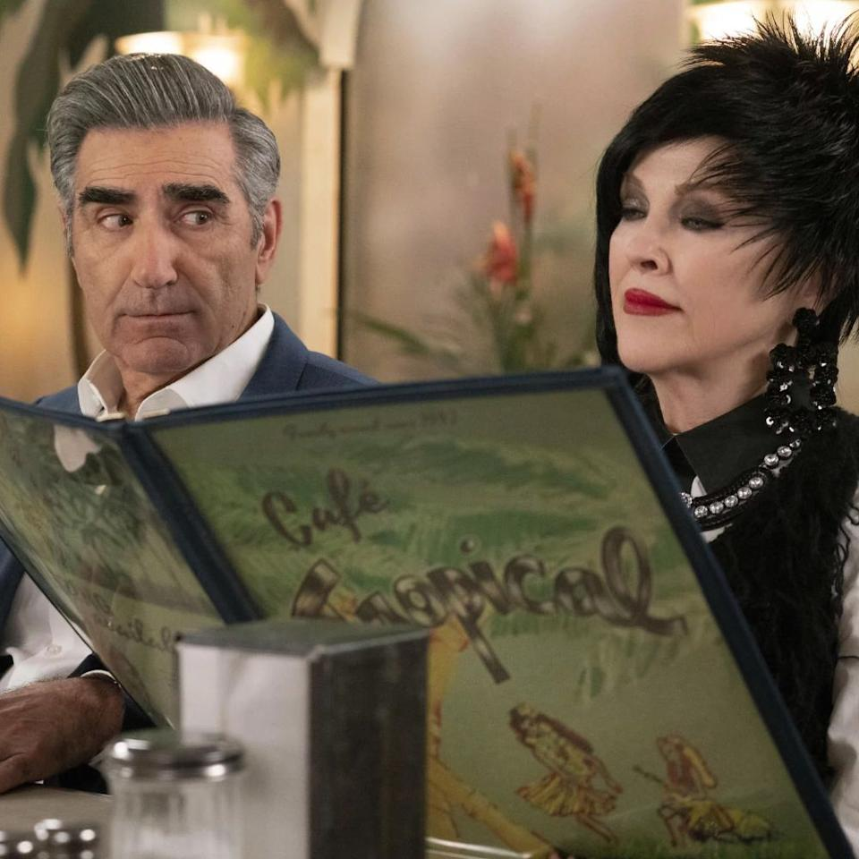 <p>It took the Academy only five seasons to acknowledge that <em>Schitt's Creek </em>is one of the funniest shows on TV. Not only is it nominated for best comedy series, but stars Catherine O'Hara (who steals every scene as the spectacularly dressed, curiously accented ex-actress Moira Rose) and Eugene Levy are both nominated. As the show gets ready to go out big with its upcoming sixth and final season, let these nominations serve as an urgent reminder: If you've yet to jump on the <em>Schitt's Creek</em> bandwagon, inject its unadulterated joy directly into your veins. You'll thank me later.</p>