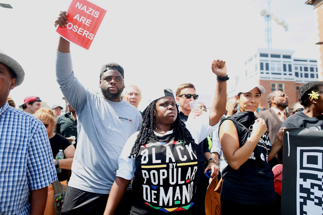 """<p>On Saturday,<a rel=""""nofollow""""> thousands of counter-protesters</a> marched through the streets of Boston to organize against a planned """"Free Speech Rally"""" that was organized by right-wing conservatives and self-proclaimed supporters of <a rel=""""nofollow"""">Donald Trump</a>. The rally, which was organized by the Boston Free Speech Coalition, supposedly was created to encourage a peaceful """"open dialogue"""" about the threats to, and importance of, free speech and civil liberties."""" However, after <a rel=""""nofollow"""">last weekend's white nationalist rally</a> in Charlottesville, Virgina, which <a rel=""""nofollow"""">left one woman dead</a> and 19 people injured after a man drove his car into a group of counter-protesters, the Boston rally drew criticism and many counter-protesters who felt that it was promoting a white nationalist agenda. Trump was widely criticized for his response to the deadly Charlottesville rally after he refused to explicitly condemn Neo-Nazis and white nationalists immediately following the attack.</p>"""