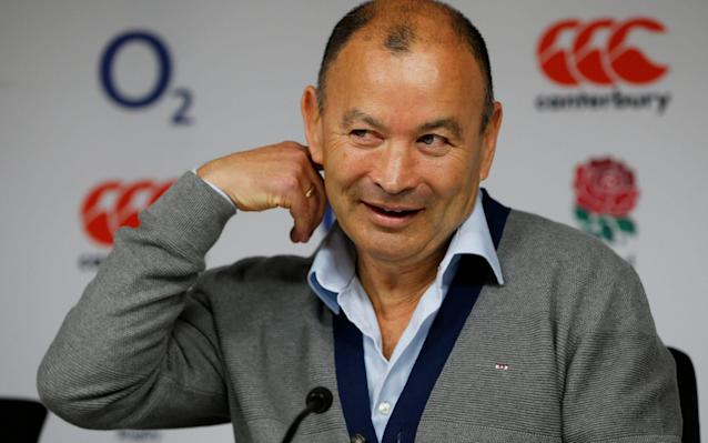 <span>Eddie Jones and his England squad announcement</span> <span>Credit: Reuters </span>