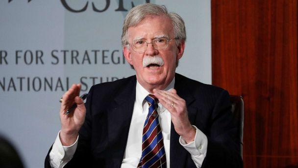 PHOTO: In this Sept. 30, 2019, file photo, former national security adviser John Bolton gestures while speaking at the Center for Strategic and International Studies in Washington, D.C. (Pablo Martinez Monsivais/AP)