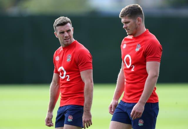 George Ford (left) has made way for Owen Farrell (right) at fly-half