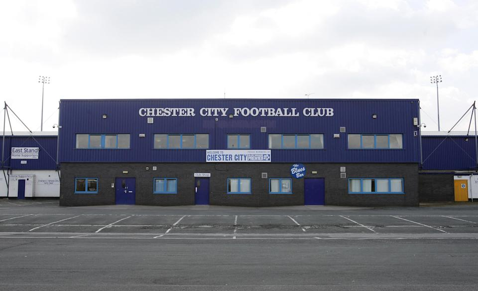 A general view of the Deva Stadium, home of Chester City Football Club.