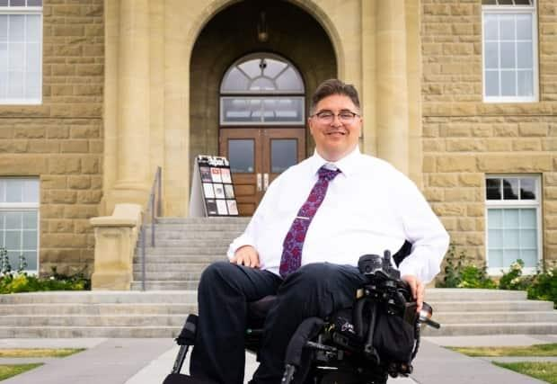 Kent Hehr, the former Liberal MP who left cabinet after he was investigated for allegedly sexually harassing women, will join Calgary's mayoral race. (Hehrformayor.ca - image credit)