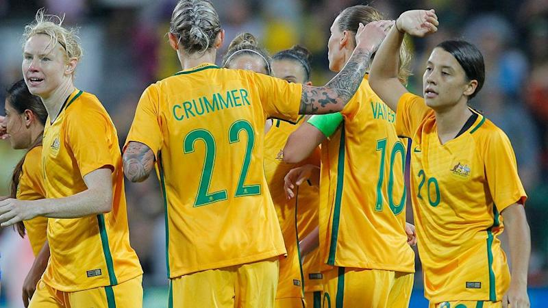 The Matildas thumped Thailand 5-0 the last time they met. Pic: Getty