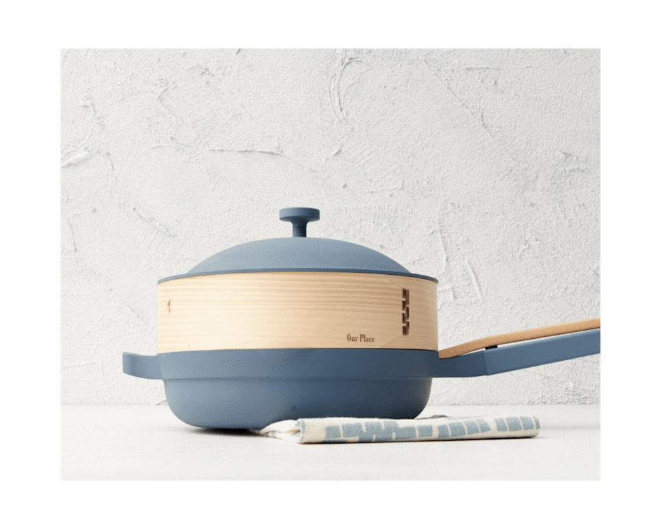 """<h3>Kitchen</h3><br><h2>Our Place</h2><br><strong>Sale:</strong> Free Spruce Steamer with any Always Pan purchase ($30 value)<br><strong>Promo Code:</strong> None<br><strong>Dates:</strong> Now - Limited Time<br><br><em>Shop <strong><a href=""""https://fromourplace.com/products/always-essential-cooking-pan"""" rel=""""nofollow noopener"""" target=""""_blank"""" data-ylk=""""slk:Our Place"""" class=""""link rapid-noclick-resp"""">Our Place</a></strong></em><br><br><strong>Our Place</strong> Always Pan, $, available at <a href=""""https://go.skimresources.com/?id=30283X879131&url=https%3A%2F%2Ffromourplace.com%2Fproducts%2Falways-essential-cooking-pan"""" rel=""""nofollow noopener"""" target=""""_blank"""" data-ylk=""""slk:Our Place"""" class=""""link rapid-noclick-resp"""">Our Place</a>"""