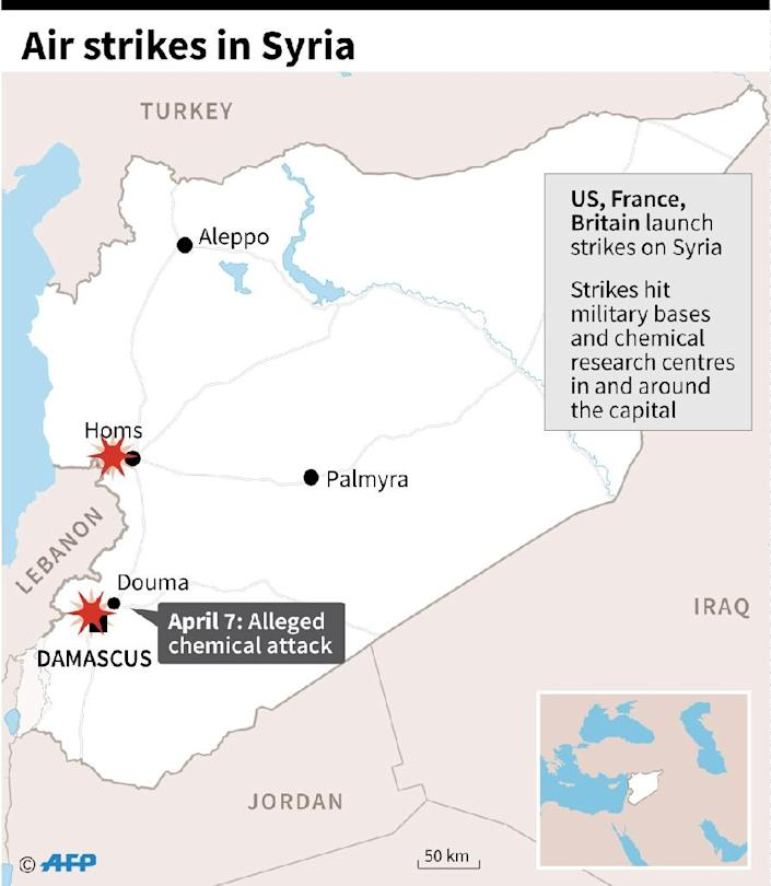 Map of Syria (AFP Photo/Gal ROMA)