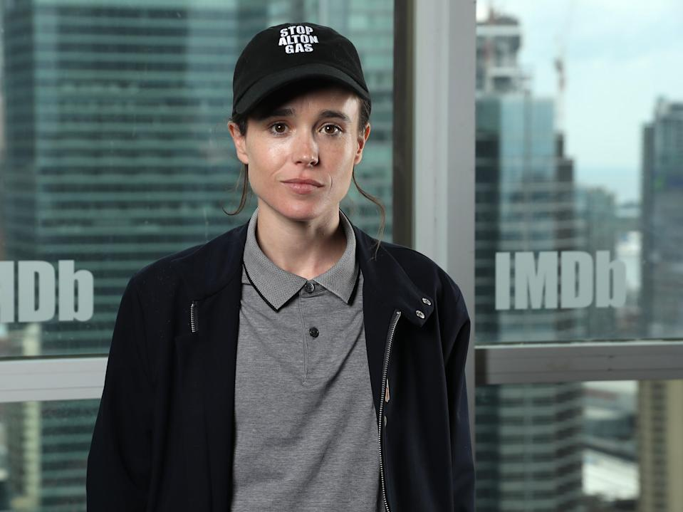 Elliot Page on 7 September 2019 in Toronto, Canada (Rich Polk/Getty Images for IMDb)
