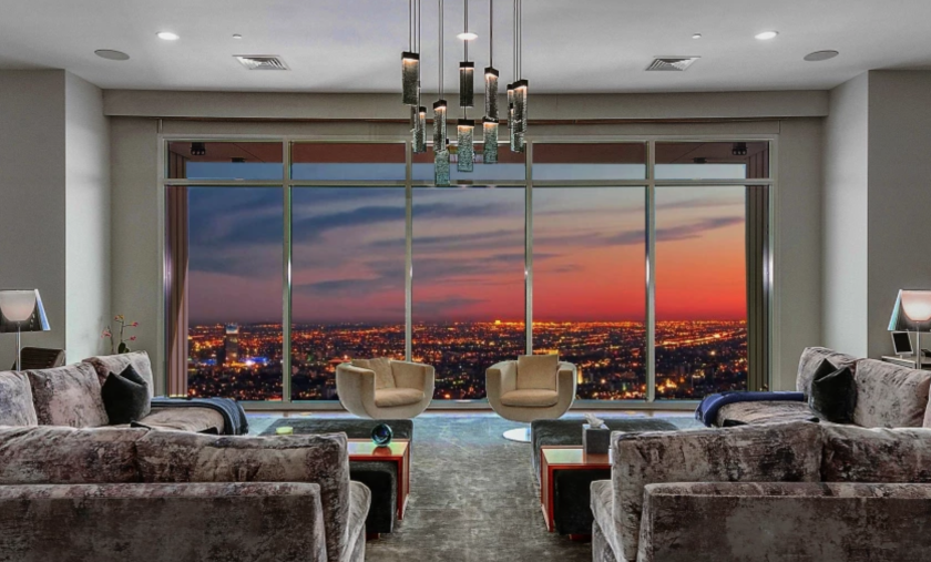 Matthew Perry's full-floor penthouse at the Century building was renovated by architect Scott Joyce and designer LM Pagano.