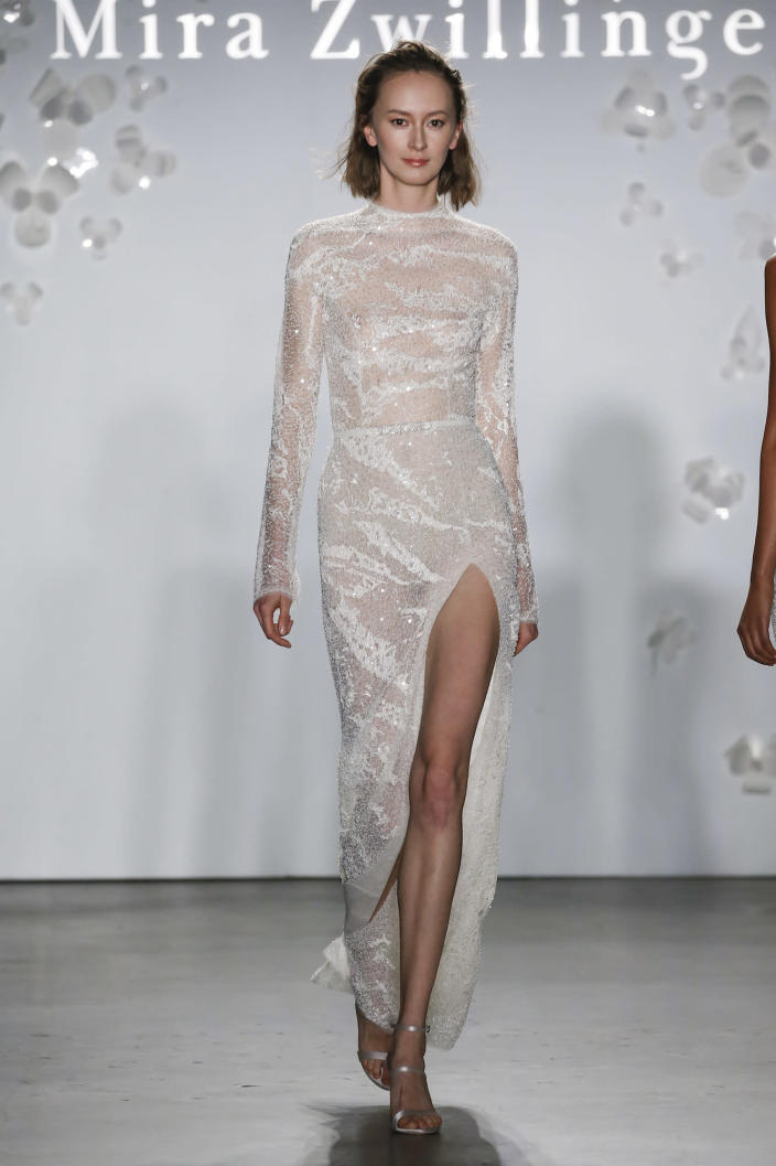 <p>Want your wedding dress to be worthy of the red carpet? A leggy option is your best bet.</p>