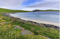 """<p>One of Shetland's most beautiful beaches, the southernmost part of West Burra, can be reached via a footpath which leads to both the beach and onto Kettla Ness Peninsula. This wild Atlantic-facing headland is home to a wide variety of breeding moorland and coastal birds, with sightings of seals a regular occurrence around the shoreline. </p><p><strong>Where to stay: </strong>Minn Beach is just a 20 minute drive from Lerwick's many accommodation options. <a href=""""https://go.redirectingat.com?id=127X1599956&url=https%3A%2F%2Fwww.booking.com%2Fhotel%2Fgb%2Fthelerwickhotel.en-gb.html%3Faid%3D2070935%26label%3Dscotland-beaches&sref=https%3A%2F%2Fwww.countryliving.com%2Fuk%2Ftravel-ideas%2Fstaycation-uk%2Fg36617506%2Fbest-beaches-scotland%2F"""" rel=""""nofollow noopener"""" target=""""_blank"""" data-ylk=""""slk:The Lerwick Hotel"""" class=""""link rapid-noclick-resp"""">The Lerwick Hotel</a> overlooks Breiwick Bay and is well located for coastal walks. </p><p><a class=""""link rapid-noclick-resp"""" href=""""https://go.redirectingat.com?id=127X1599956&url=https%3A%2F%2Fwww.booking.com%2Fhotel%2Fgb%2Fthelerwickhotel.en-gb.html%3Faid%3D2070935%26label%3Dscotland-beaches&sref=https%3A%2F%2Fwww.countryliving.com%2Fuk%2Ftravel-ideas%2Fstaycation-uk%2Fg36617506%2Fbest-beaches-scotland%2F"""" rel=""""nofollow noopener"""" target=""""_blank"""" data-ylk=""""slk:CHECK AVAILABILITY"""">CHECK AVAILABILITY</a></p>"""
