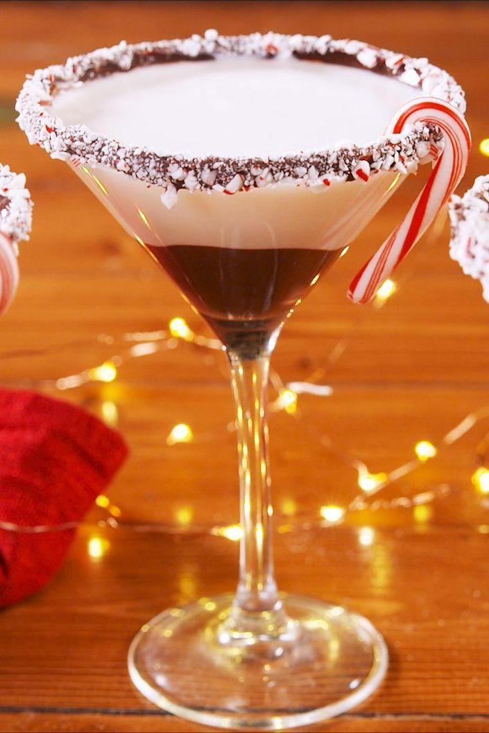 """<p>Peppermint bark fans, meet your match. </p><p>Get the recipe from <a href=""""https://www.delish.com/holiday-recipes/christmas/a25415480/peppermintinis-recipe/"""" rel=""""nofollow noopener"""" target=""""_blank"""" data-ylk=""""slk:Delish"""" class=""""link rapid-noclick-resp"""">Delish</a>. </p>"""