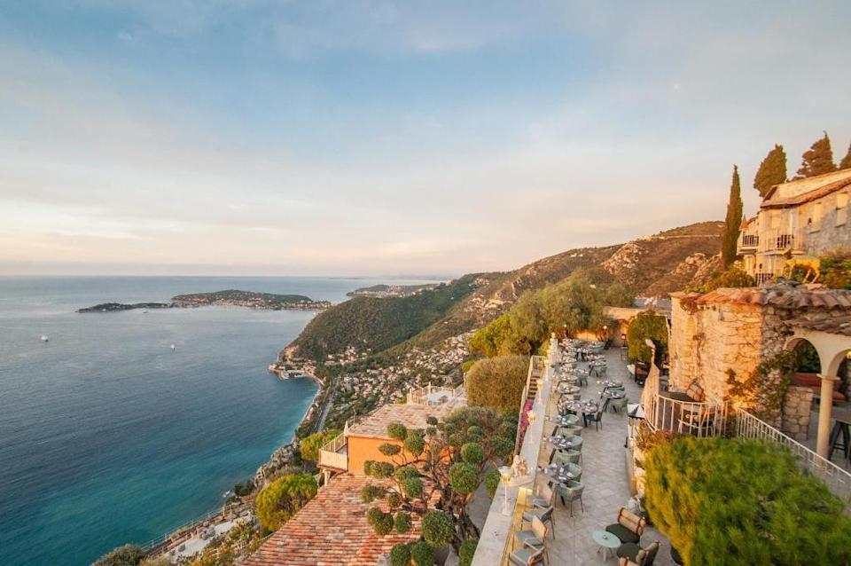 """<p>The flight from London to Nice is a mere two hours, bringing you the glitz and glamour of the South of France in less time than it can take to drive to a UK mini-moon spot. Once you arrive, you can make your way to picturesque Eze, where the luxurious <a href=""""https://go.redirectingat.com?id=127X1599956&url=https%3A%2F%2Fwww.booking.com%2Fhotel%2Ffr%2Fla-chevre-d-or.en-gb.html%3Faid%3D2070929%26label%3Dmini-moon&sref=https%3A%2F%2Fwww.redonline.co.uk%2Ftravel%2Fg37487695%2Fmini-moon%2F"""" rel=""""nofollow noopener"""" target=""""_blank"""" data-ylk=""""slk:La Chevre d'Or"""" class=""""link rapid-noclick-resp"""">La Chevre d'Or</a> awaits. An open-air museum with glorious gardens, the hotel offers epic views of Saint-Jean-Cap-Ferrat, unforgettable fine dining and a magical setting worth flying for.</p><p><a class=""""link rapid-noclick-resp"""" href=""""https://go.redirectingat.com?id=127X1599956&url=https%3A%2F%2Fwww.booking.com%2Fhotel%2Ffr%2Fla-chevre-d-or.en-gb.html%3Faid%3D2070929%26label%3Dmini-moon&sref=https%3A%2F%2Fwww.redonline.co.uk%2Ftravel%2Fg37487695%2Fmini-moon%2F"""" rel=""""nofollow noopener"""" target=""""_blank"""" data-ylk=""""slk:CHECK AVAILABILITY"""">CHECK AVAILABILITY</a></p>"""