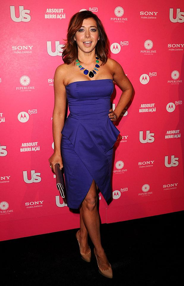 """How I Met Your Mother's"" Alyson Hannigan was pretty in her purple BCBG Max Azria frock. Jason Merritt/<a href=""http://www.gettyimages.com/"" target=""new"">GettyImages.com</a> - April 22, 2010"