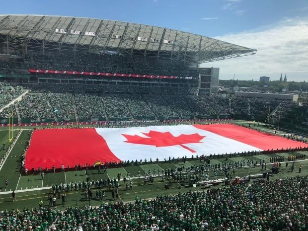 The Saskatchewan Roughriders have been given the go ahead to allow as many fans as they wish into Mosaic Stadium later this year, provided the province reaches its vaccination targets. (Glenn Reid/CBC News - image credit)