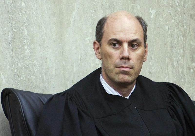 """This June 20, 2012, photo provided by ALM shows U.S. District Judge James """"Jeb"""" Boasberg in Washington, D.C. Boasberg is overseeing a lawsuit filed by the Standing Rock and Cheyenne River Sioux, two Dakotas tribes who maintain the $3.8 billion Dakota Access pipeline to carry North Dakota oil to Illinois threatens their drinking water and cultural sites. (Diego M. Radzinschi/ALM via AP)"""