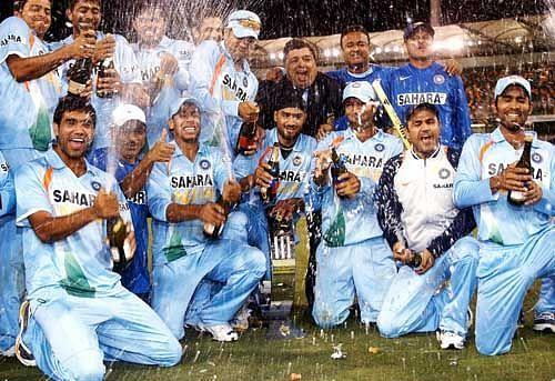 India beat Australia to lift the CB series trophy (Image Credit: ESPN Cricinfo)