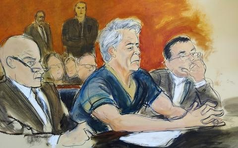 <span>Epstein has appeared in court in New York</span>