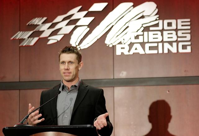 "<a class=""link rapid-noclick-resp"" href=""/nascar/sprint/drivers/711/"" data-ylk=""slk:Carl Edwards"">Carl Edwards</a> isn't really saying no to a potential future in politics. (Getty)"