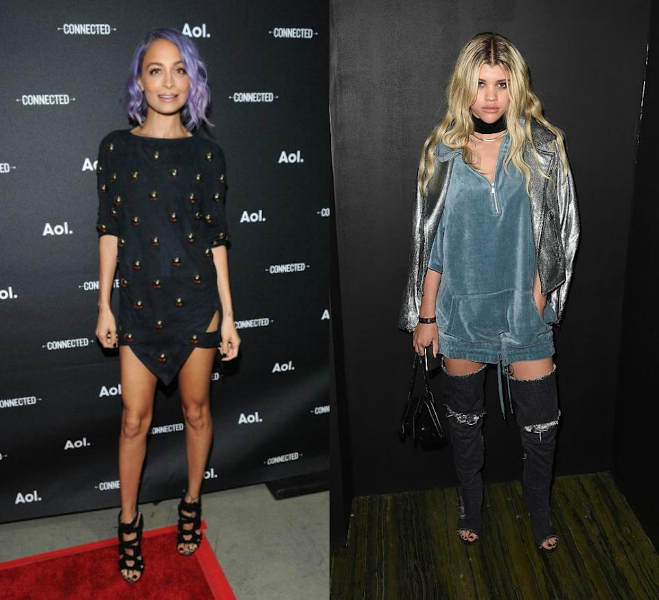 <p>We all know Nicole Richie has amazing style and now her younger sister Sofia Richie is hot on her heels.<i> [Photo's: Getty] </i></p>