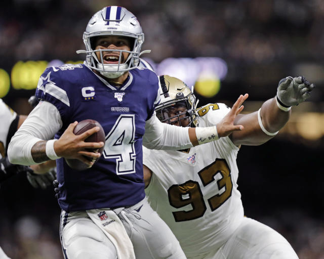 The Cowboys-Saints game on Sunday drew the highest ratings for an NBC game since 2016. (Stephen Lew/Getty Images)