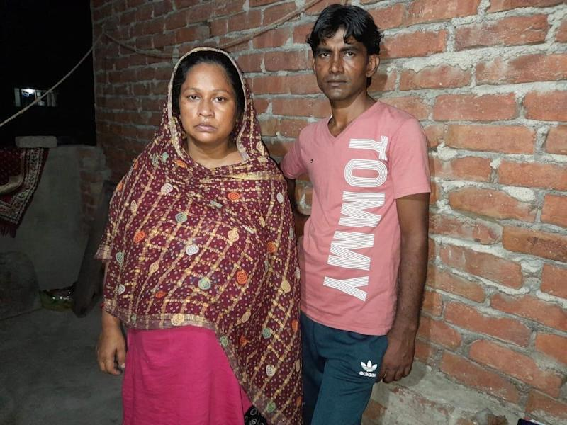 Delhi riots survivor Rubina Bano and her husband Mo (Photo: Courtesy Rubina Bano)