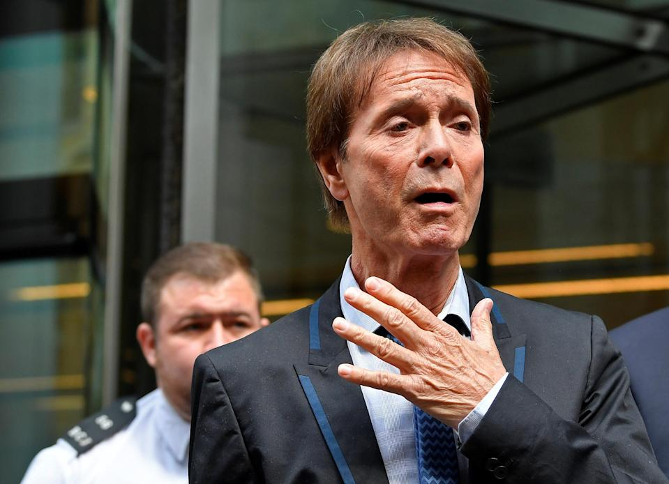 <em>Hard journey – Sir Cliff's spokesman said it had been a hard journey for him (Picture: Reuters)</em>