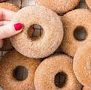 """<p><a href=""""https://www.delish.com/uk/cooking/recipes/a30165545/how-to-make-donuts-at-home/"""" rel=""""nofollow noopener"""" target=""""_blank"""" data-ylk=""""slk:Donuts"""" class=""""link rapid-noclick-resp"""">Donuts</a>...that are delicious and vegan?! Believe it.</p><p>Get the <a href=""""https://www.delish.com/uk/cooking/recipes/a34050952/vegan-donuts/"""" rel=""""nofollow noopener"""" target=""""_blank"""" data-ylk=""""slk:Cinnamon Sugar Vegan Donuts"""" class=""""link rapid-noclick-resp"""">Cinnamon Sugar Vegan Donuts</a> recipe.</p>"""