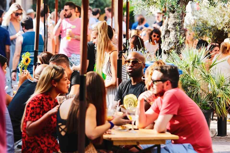 <p>Big deal: the beer garden at Mercato Metropolitanoin Elephant and Castle</p> (Mercato Metropolitano)