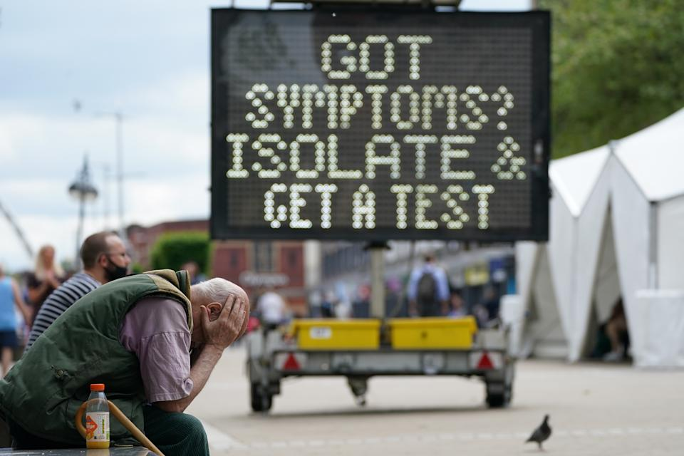A mobile COVID-19 vaccination centre in Bolton, which has been one of the Delta variant hotspots. Prof Neil Ferguson has said the UK is facing a 'substantial third wave'. (PA)