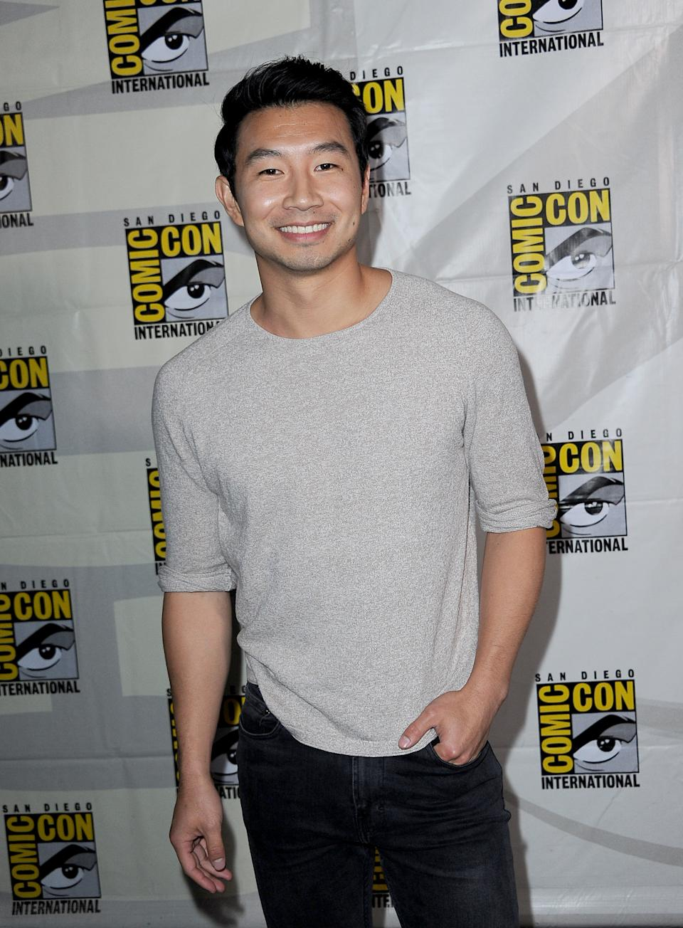 SAN DIEGO, CALIFORNIA - JULY 20: Simu Liu attends the Marvel Studios Panel during 2019 Comic-Con International at San Diego Convention Center on July 20, 2019 in San Diego, California. (Photo by Albert L. Ortega/Getty Images)