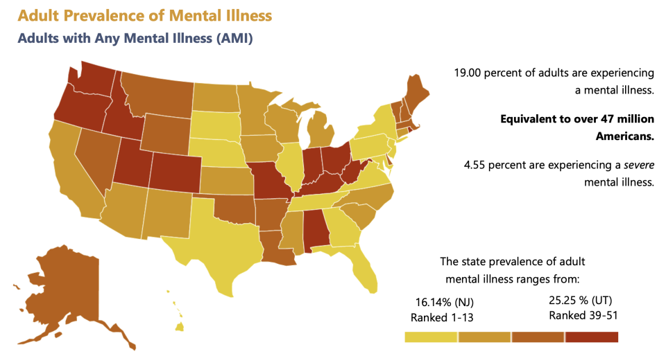 A mental illness is defined as