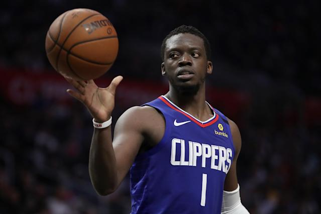 Former Pistons guard Reggie Jackson scored eight points in his Clippers debut. (Katelyn Mulcahy/Getty Images)