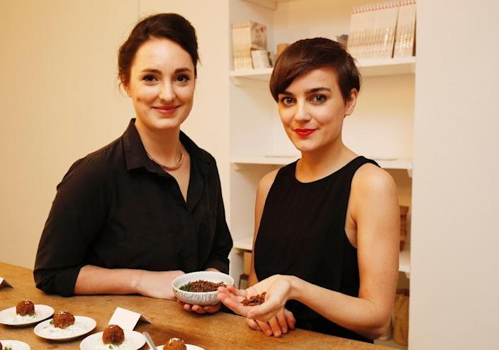Austrian entrepreneurs Katharina Unger (right) and Julia Kaisinger want the West to view insects as a source of protein and nutrition (AFP Photo/Dieter Nagl)