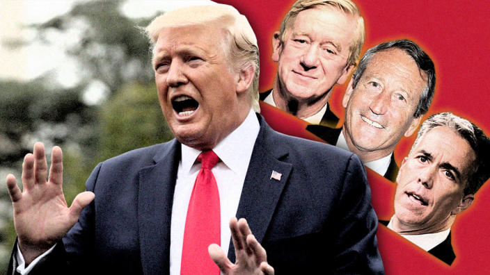 From left: Donald Trump, Bill Weld, Mark Sanford and Joe Walsh. (Photo illustration: Yahoo News; photos: AP, Bill McCay/Getty Images, AP, Tom Williams/Roll Call via Getty Images)