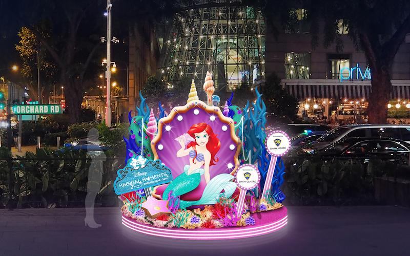 Photo op with Ariel. Photo: Orchard Road Business Association