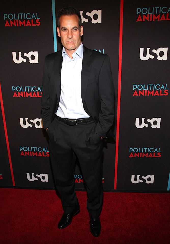 "Adrian Pasdar attends the ""Political Animals"" premiere at The Morgan Library & Museum on June 25, 2012 in New York City."